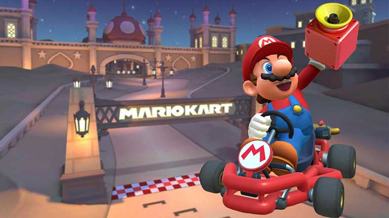 Mario Kart Tour Hit 5 times with the Super Horn