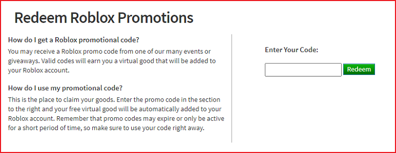 How to redeem Roblox Promo Codes